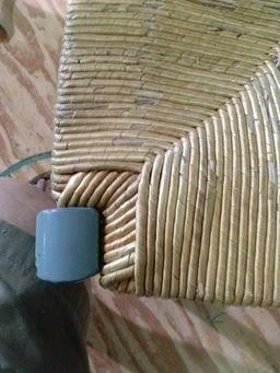 photo of wheat wrap rush seat